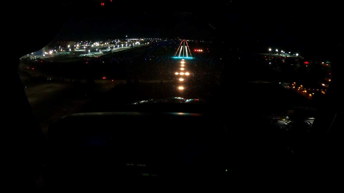 夜のクロスカントリーフライト